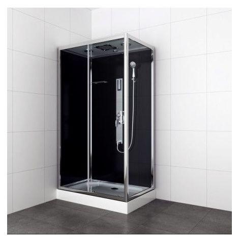 Cabine de douche JULIAN 120x80x210 cm montage rapide - Noir