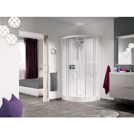 Cabine de douche Kineprime 1/4 de rond avec portes coulissantes