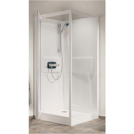 Cabine de douche Kineprime (18 cm) - Pivotante - 100x80cm - Thermo