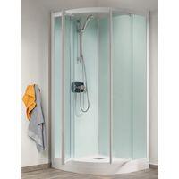 Cabine De Douche Kineprime Glass 18 Cm Pivotante 1 4 De Rond 80cm