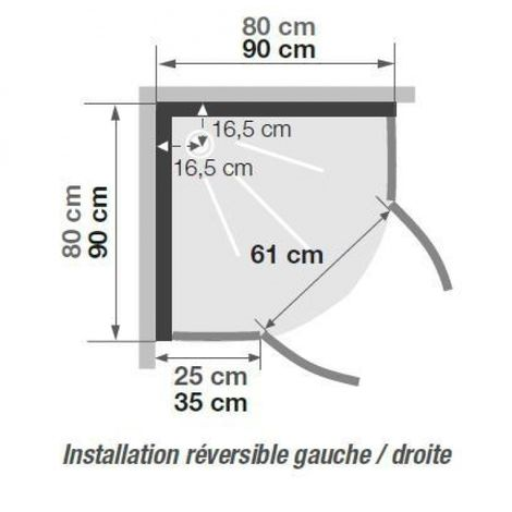 Forma y dimensiones de una ducha