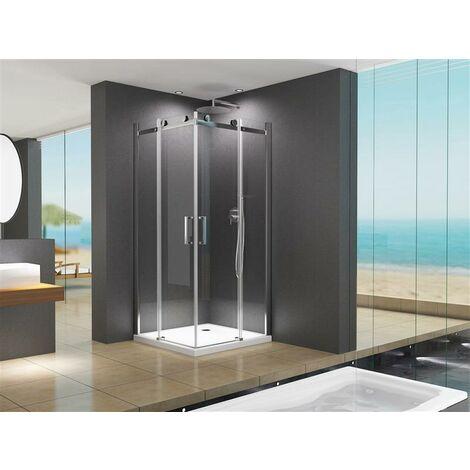 Cabine de douche Lina 80 x 80 x 195 centimètre sans receveur de douche 90x90x195cm