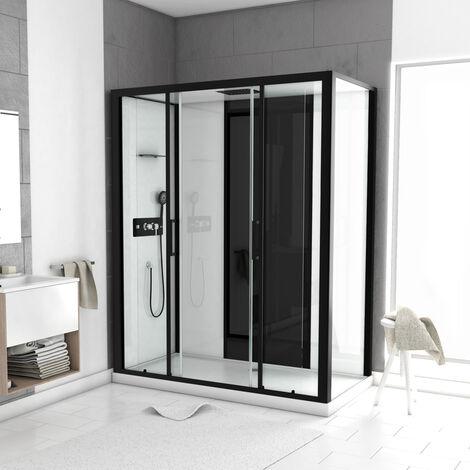 Cabine de douche LOFT à receveur bas Noir