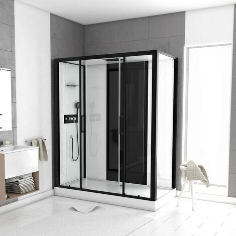 Cabine de douche LOFT à receveur haut Noir