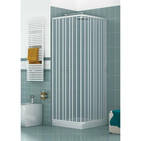 Cabine de douche Luna cm en PVC avec ouverture late'rale a' soufflet