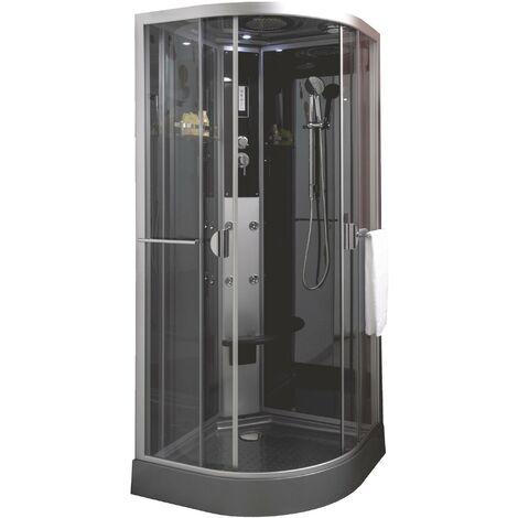 Cabine de douche NED GRISE 1/4 C 90 Hydromassante