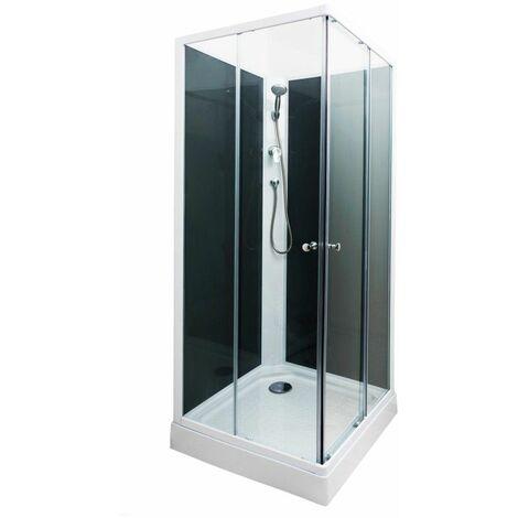 Cabine de douche non hydromassante grise 80x80cm Minea - Gris
