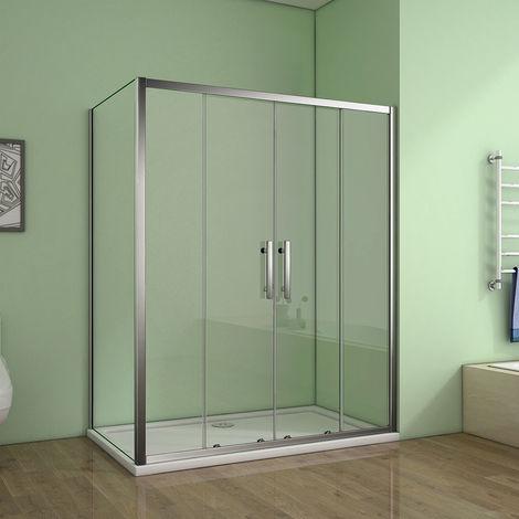 Cabine de douche porte de douche à l'accès au centre + paroi latérale