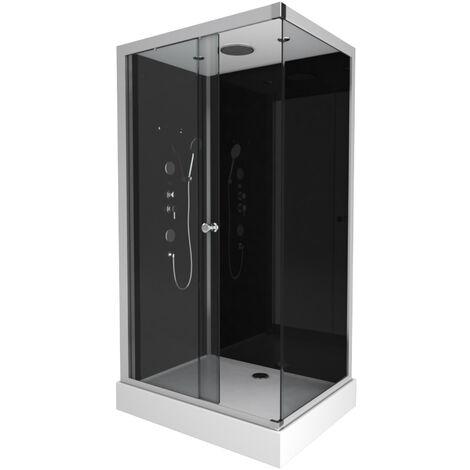 Cabine de douche rectangle 110X80X215cm - RAVEN