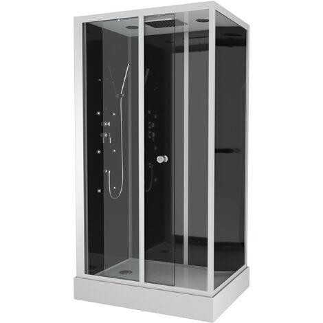 Cabine de douche rectangle 110x80x220cm - DARK PRIME