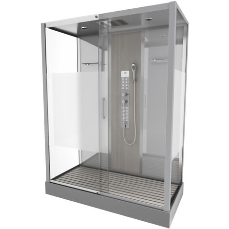 Cabine de douche rectangle 75x150x215cm - SHACKY XXL