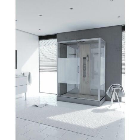 Cabine de douche rectangle 75x150x215cm - SHACKY XXL