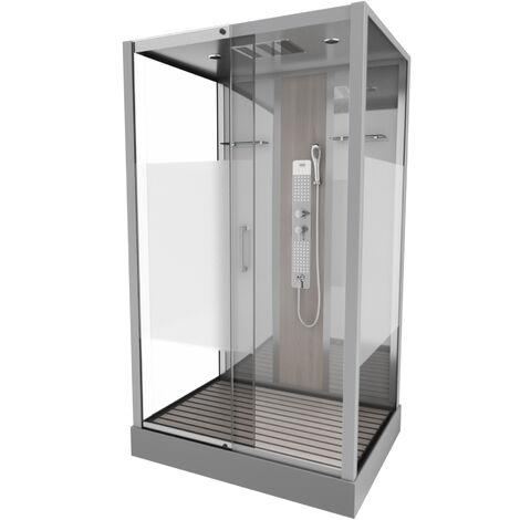 Cabine de douche rectangle 90x115x215cm - SHACKY RECTANGLE