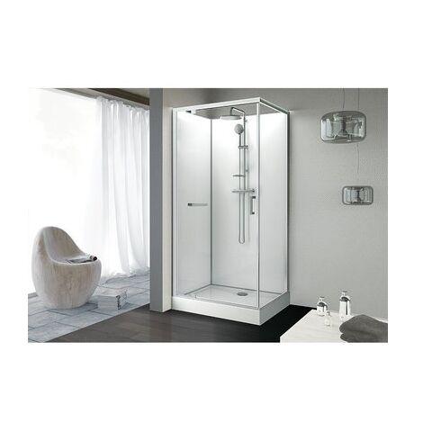 Cabine de douche rectangulaire - porte pivotante - KARA - Leda