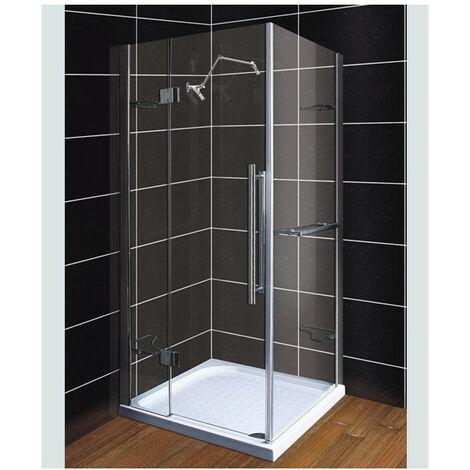 Cabine de Douche TEREZ 90x90 cm ou 100x100 cm - Dimensions: 90x90 cm - Blanc