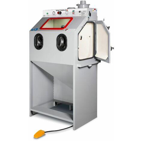 Cabine de sablage industrielle à injecteur 370l + cyclone + aspiration MW-Tools SCIN370