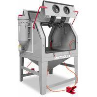 Cabine de sablage professionnelle 1200 L double avec aspiration MW-Tools CAT1200