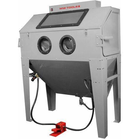 Cabine de sablage professionnelle 420 L avec aspiration MW-Tools CAT420