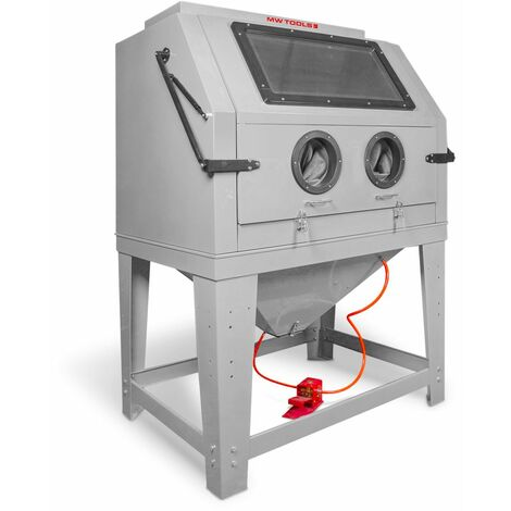 Cabine de sablage professionnelle 990 L avec aspiration MW-Tools CAT990