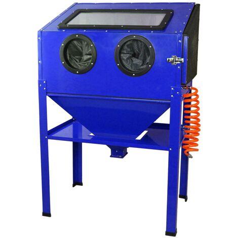 Cabine de sablage Professionnelle MAXBLAST de 220 Litres - Bleu