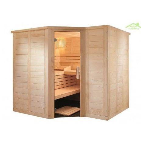 Cabine de Sauna d'angle POLARIS SMALL de SENTIOTEC 206x144 cm