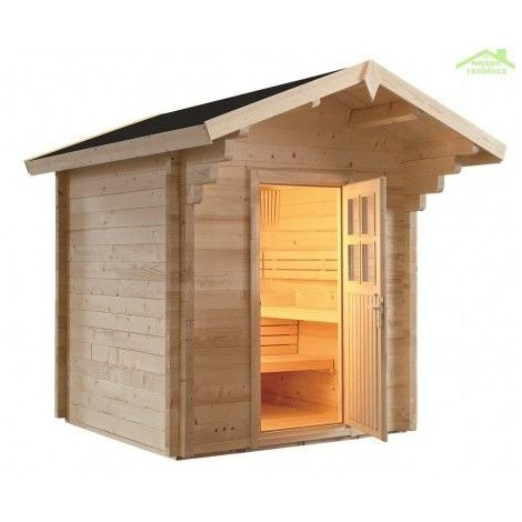 Cabine de Sauna de jardin COUNTRY de SENTIOTEC 230x230 cm