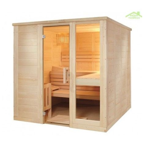 Cabine de Sauna KOMFORT LARGE de SENTIOTEC 208x206 cm