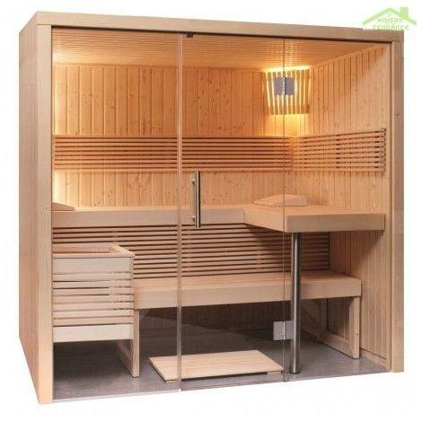 Cabine de Sauna PANORAMA LARGE de SENTIOTEC 214x210 cm