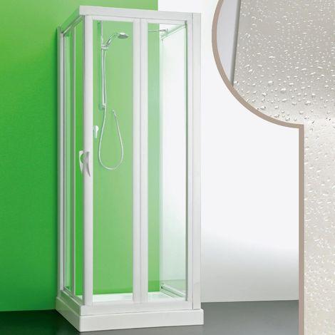 Cabine douche 3 côtés en acrylique mod. Giove avec ouverture pliante