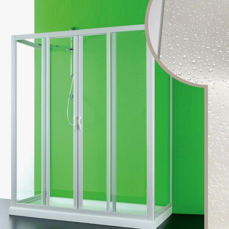Cabine douche 3 côtés en acrylique mod. Mercurio 2 avec ouverture centrale