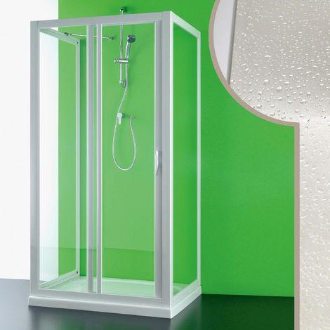 Cabine douche 3 côtés en acrylique mod. Mercurio avec ouverture laterale