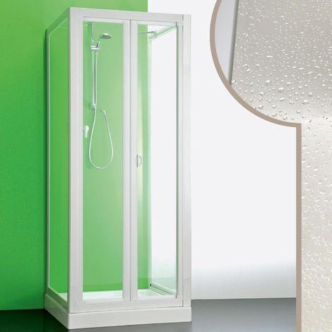 Cabine douche 3 côtés en acrylique mod. Saturno avec ouverture pliante