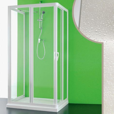 Cabine douche 3 côtés en acrylique mod. Venere avec ouverture centrale