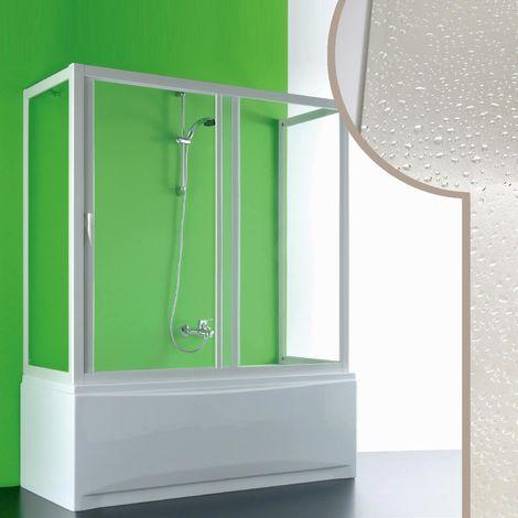 Cabine douche 3 côtés  Pare-Baignoire en acrylique mod. Plutone avec ouverture laterale