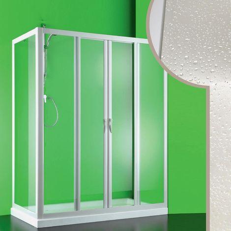 Cabine douche 90x120 CM en acrylique mod. Mercurio 2 avec ouverture centrale