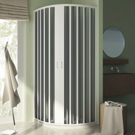 Cabine douche demi-circulaire en Plastique pvc mod. Sharp avec l'ouverture centrale