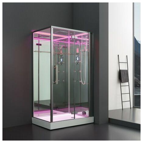 Cabine douche Hammam Archipel® Pro 120D MIROIR (120x90cm) 2 places