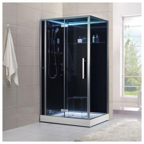 Cabine douche Hammam Archipel® Pro 120G BLACK (120x90cm) 2 places