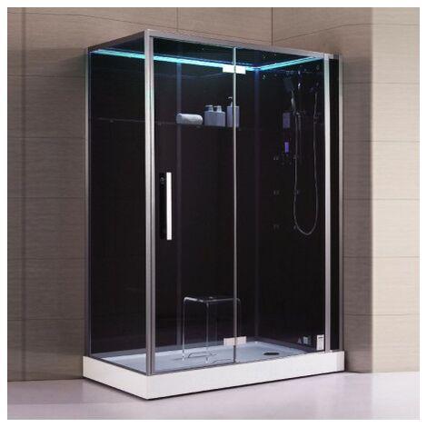 Cabine douche Hammam Archipel® Pro 150D BLACK (150x90cm) 2 à 3 places