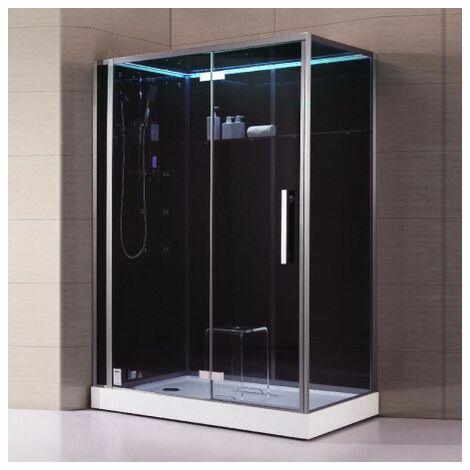 Cabine douche Hammam Archipel® Pro 150G BLACK (150x90cm) 2 à 3 places
