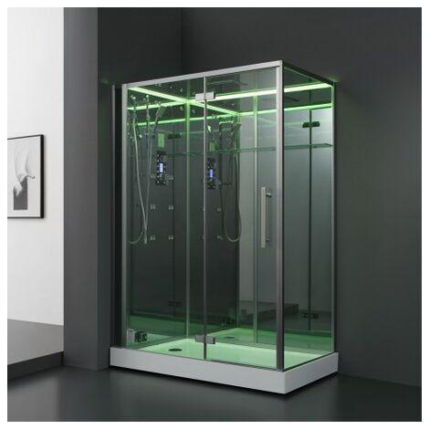 Cabine douche Hammam Archipel® Pro 150G MIROIR (150x90cm) 2 à 3 places