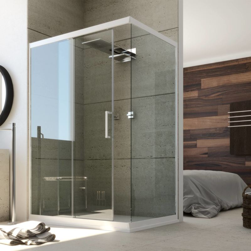 cabine douche en pvc 70x100 cm h190 transparent mod glax. Black Bedroom Furniture Sets. Home Design Ideas