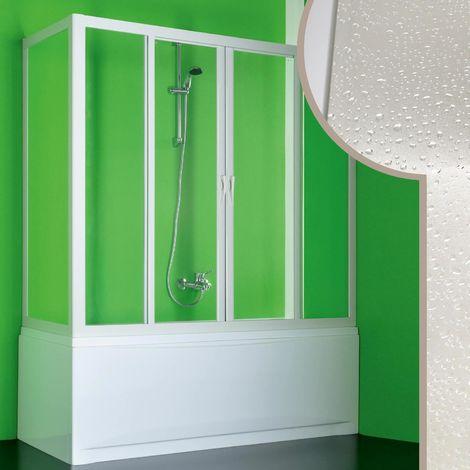 Cabine douche Pare-Baignoire en acrylique mod. Plutone 2 avec ouverture centrale