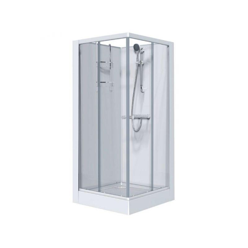 Cabine Izi Glass Carré Portes Coulissantes Leda