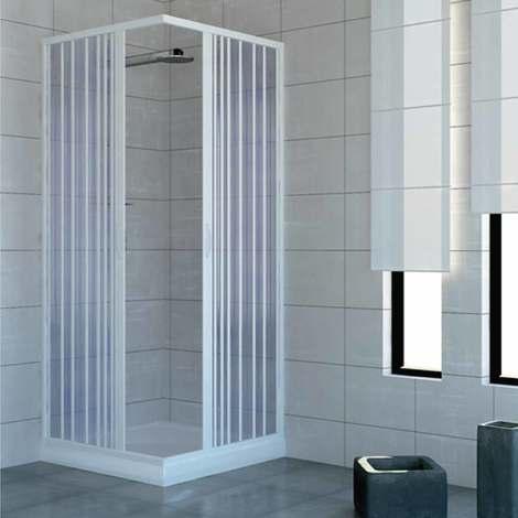 Cabine paroi de douche en Plastique PVC mod. Acquario avec ouverture centrale