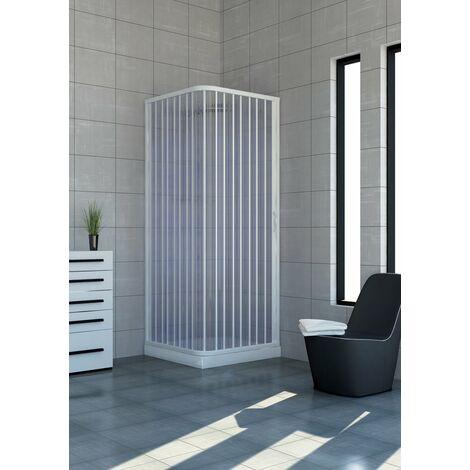 Cabine paroi de douche en Plastique PVC mod. Acquario avec ouverture latérale