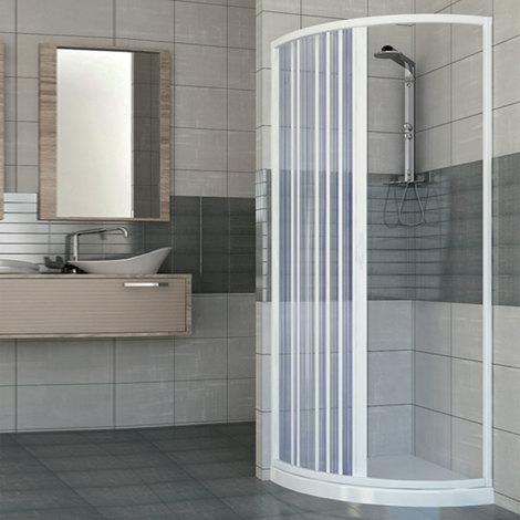 Cabine paroi de douche en Plastique PVC mod. Scorpione avec ouverture latérale