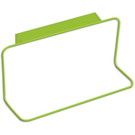 Cabinet Door Back Towel Holder Plastic Indented,Green