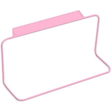 Cabinet Door Back Towel Holder Plastic Indented,Pink