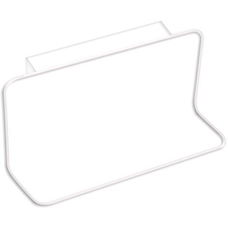 Cabinet Door Back Towel Holder Plastic Indented,White